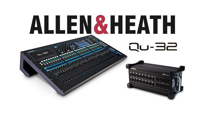 qu 32 mixing console by allen heath for sale apex sound light corporation. Black Bedroom Furniture Sets. Home Design Ideas