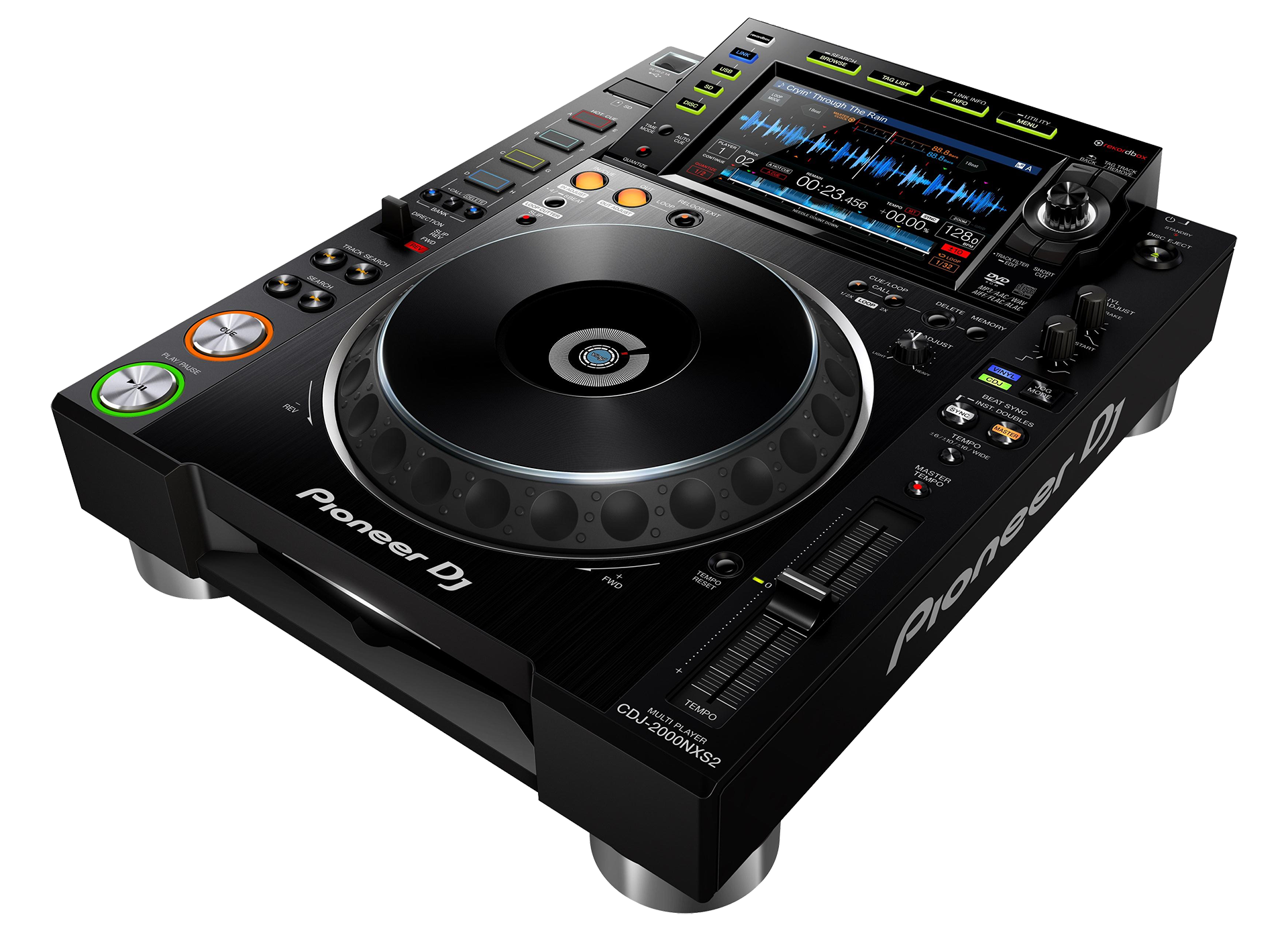 cdj 2000nxs2 multi player by pioneer for rent apex sound light corporation. Black Bedroom Furniture Sets. Home Design Ideas