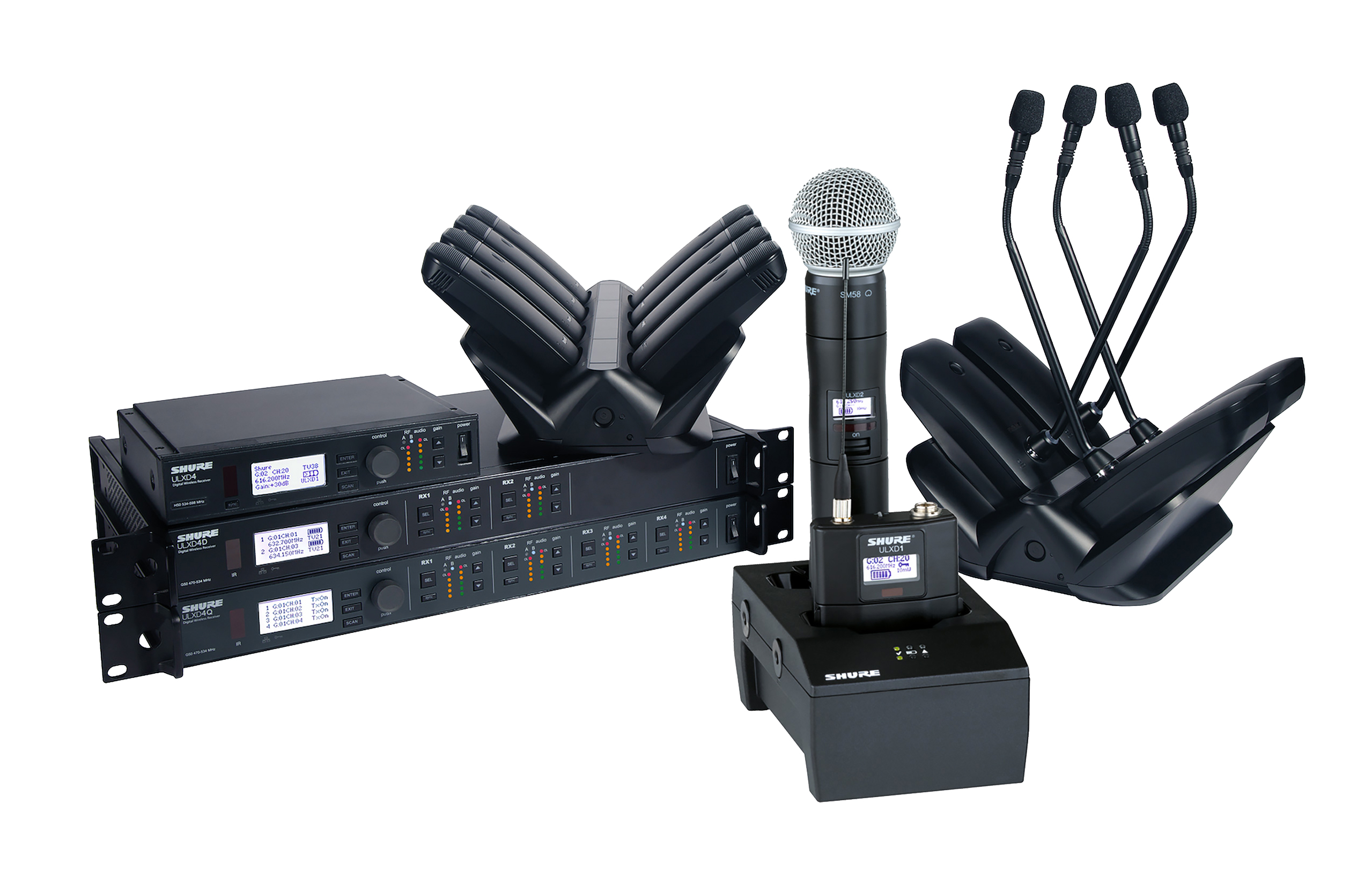 ulx d wireless systems by shure for sale apex sound light corporation. Black Bedroom Furniture Sets. Home Design Ideas