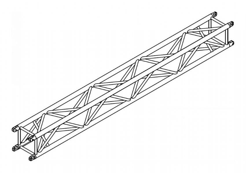 12 inch box truss spigot by arcofab for rent apex sound light