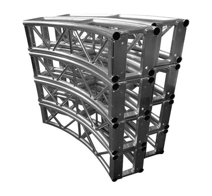 12 Inch Box Truss Curved 90 Deg